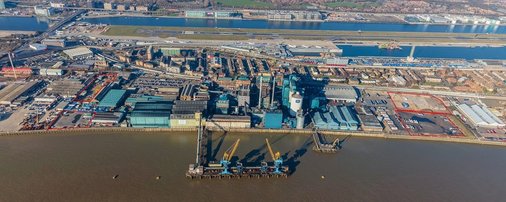 Industrial Land adjoining Tate & Lyle Sugars in Royal Docks available to lease